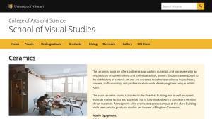 University of Missouri website screenshot