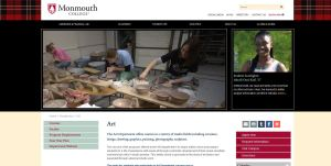 Monmouth College screenshot