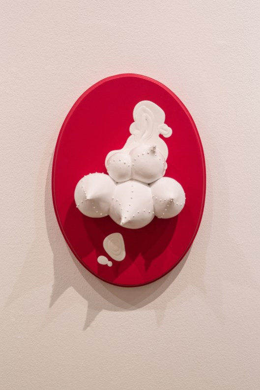 "ceramic, wood acrylic, 13"" x 9.75"" x 6"", 2014"