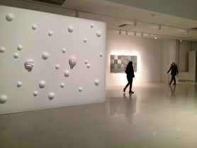 installation view, ceramic, acrylic and sound, dimensions variable, 2012