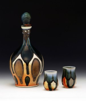 "Soda-Fired Porcelain, 12""x6""x6"" (bottle w/ stopper)"