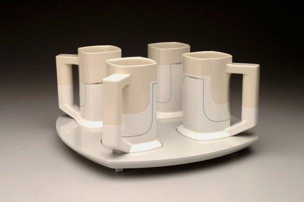 """Steins (4), 11"""" x 16"""" x 16"""", 2011"""