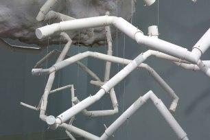 Ceramic, cement, foam, cable, hardware, wood. 2014. Image Credit: Jim Escalante
