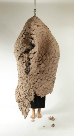 "22""w x 78""h x 37""d (in), Earthenware clay, metal wire 2012"