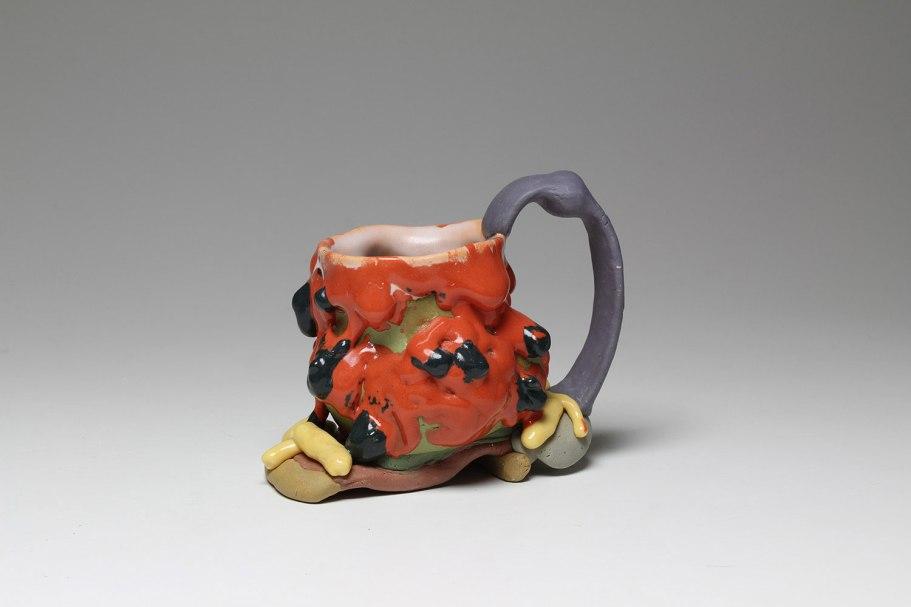 "Porcelain and glaze, 5.5"" X 7"" X 5"", 2018"