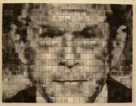 "earthenware tiles, fired in sawdust, 2006, 46"" x 60 1/4"" x 41"""
