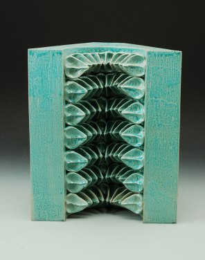 pinch/slab-formed glazed stoneware – c1 ox – 14 x 11 x 7 - 2013