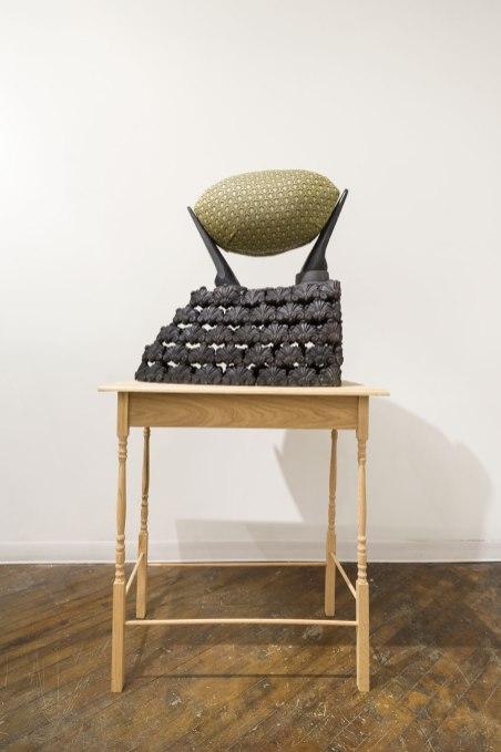 Earthenware, fabric, foam, wood, 30'x20'x54', 2015