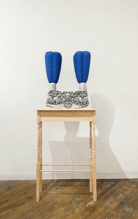 Earthenware, fabric, foam, wood, 26'x9'x60', 2015