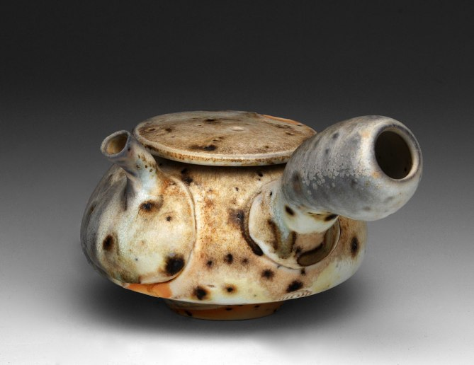 3x6x6, Porcelain with Grog, Wood Fired