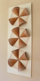 Red Pottery Clay, Hand Shaping & Pressing Mold, Ceramic on Wood, 1000ºC, 30x85x8 cm, 2013