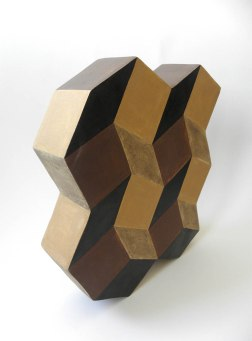 Stoneware Clay, Hand Shaping, 1200 C, 7x30x33 cm, Brush Decoration with Coloured Slips, 2010