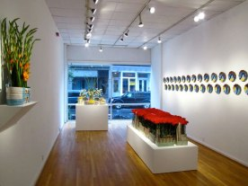 Red Carpet Installation, Evelyn Shapiro Foundation Fellowship Solo Show, The Clay Studio, Philadelphia