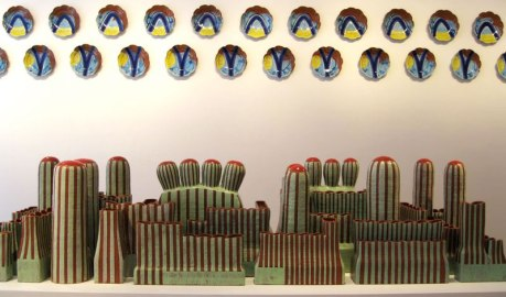 Red Carpet and Wall Plates, The Clay Studio, 2011