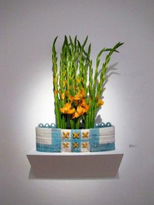 """Fence Vase, 26"""" x 8"""" x 8"""", Earthenware"""