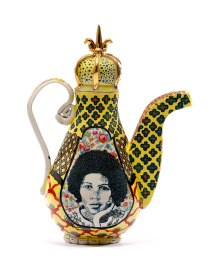 "Roberto Lugo, ""Notorious BIG-Bell Hooks Teapot"""