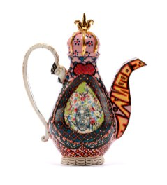 "Roberto Lugo, ""Celia Cruz-Basquiat Teapot"""