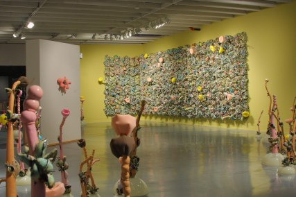 "Synthetic Reality, 2007-2008, installation, porcelain, wood, acrylic, foam, polyfil, 12' x 28' x 10"""