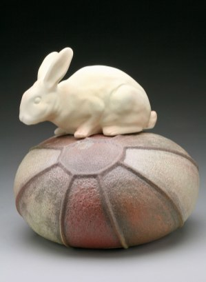 "Raft Lake Fable: ""voice of reason"", hand built stoneware and slip cast"