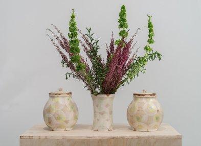 """Sanam Emami, """"Garniture of Three Vases"""""""