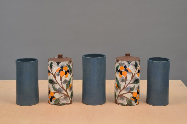 "Sanam Emami, ""Garniture of Five Vases"""