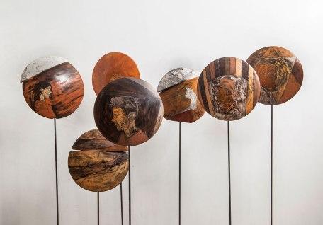 solo exhibition, terra sigillata, wood firing 2017