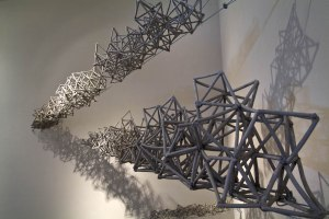 """2011, Kellogg Gallery (Cal Poly Pomona), 132"""" l, porcelaineous stoneware, cone 6 reduction"""