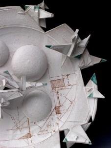 """2011, 22"""" w, multi fired, stoneware, glaze, glaze pencil, cone 6 oxidation"""