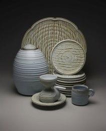 Various sizes, iron rich stoneware w/ satin matte glaze, reduction cone 9