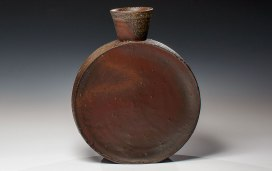 "Wood Fired Stoneware, 2013, 13""x10.5""x3.5"""