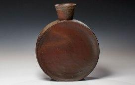 "Wood Fired Stoneware, 2013, 13""x10.5""x3.5"""