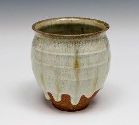 "Nuka Ash Glaze on Stoneware, 2013, 4""x3.5""x3.5"""
