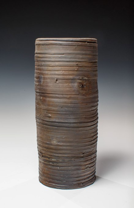 "Wood Fired Stoneware, 2013, 10.5""x4.5""x4.5"""