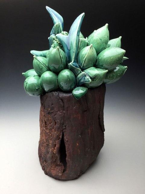 Handbuilt/Slip-cast Altered/3D Ceramic Printed Cone 04-6