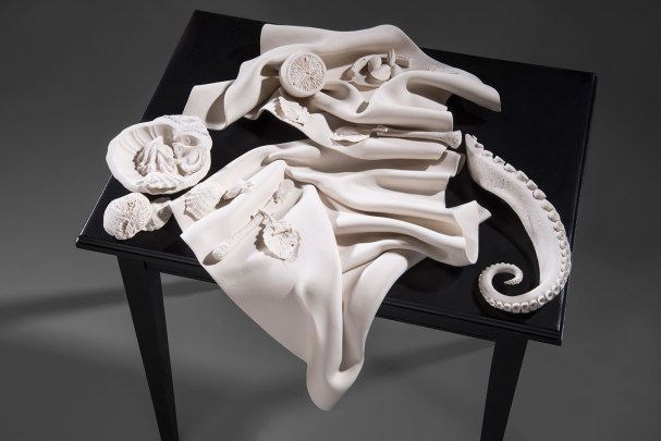 "Susan Schultz, ""Still Life with Octopus, detail"""