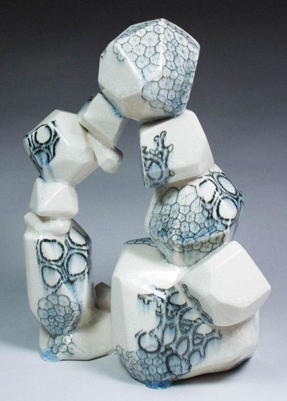2014, ceramic, underglaze transfers, 12x8x7