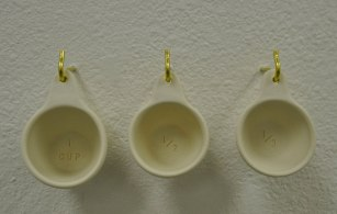 "Porcelain and Brass Hooks, 5""x 10"" x 3"", 2015"