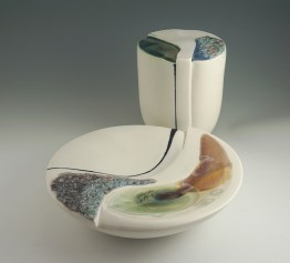 Crystalline and volcanic glazes, porcelain cone 10.