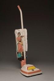 "slipcast cone 6 ceramic with underglaze illustration, 42""x11""x14"", 2011"