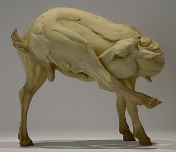 """The Fallacy of Virtuosity, 12""""h x 13.5""""w x 9""""d, 2006, stoneware"""