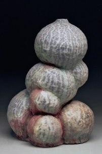 Untitled Vessel, 2014, glazed stoneware, wood-fired