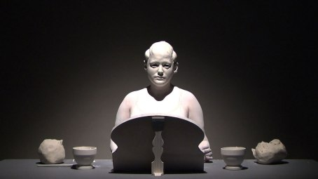 Video Still, 2011, Raw clay, Body paint, Mirror, Cast modeling tools