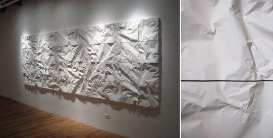 """cast porcelain, terra sigillata, dimensions variable (15 x 15 x 3"""" tile), 2009"""