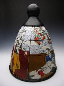 porcelain with underglaze, 15x12x12