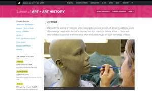 UF Ceramics website screenshot