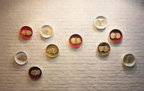 """13""""x3"""" (Each) x 10 pieces, porcelain with gold lustre, 2016"""