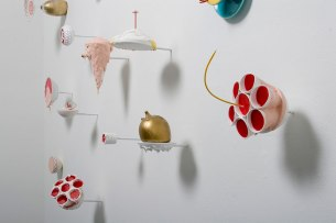 2010, glass, slip-cast porcelain, rubber, plaster, steel, (installation: dimensions variable)