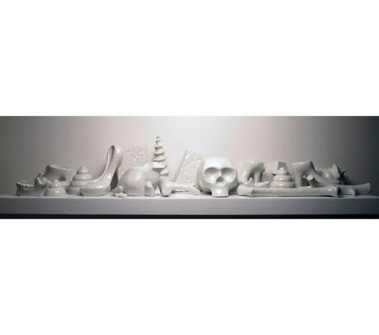 "William DePauw, ""Arm's Breadth (75 inches)"", 2012, glazed porcelain, 12x12x75"""