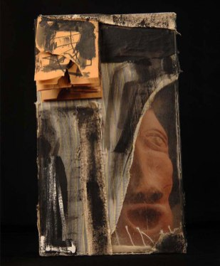 W22xh36xd18, Earthenware clay, plastic, fabric, paper, ink. 2010