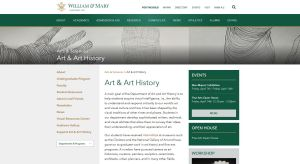 Learn more about the William & Mary Art and Art History Department